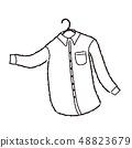 셔츠 셔츠 일러스트 48823679