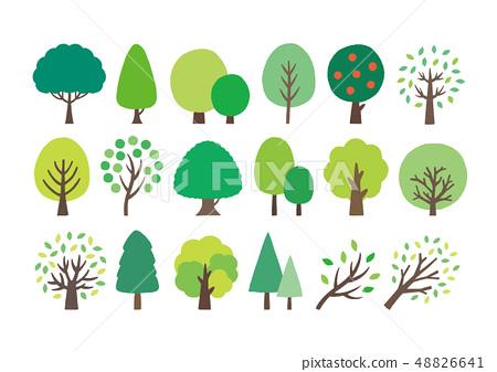 绿树手绘集 48826641