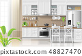 Kitchen in modern rustic style background 48827470