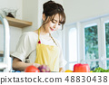 주방 여성 주부 가사 라이프 스타일 요리 48830438