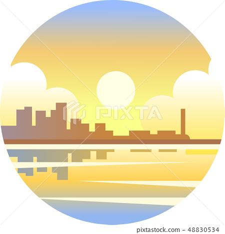 Sunshine coast gradient illustration 48830534