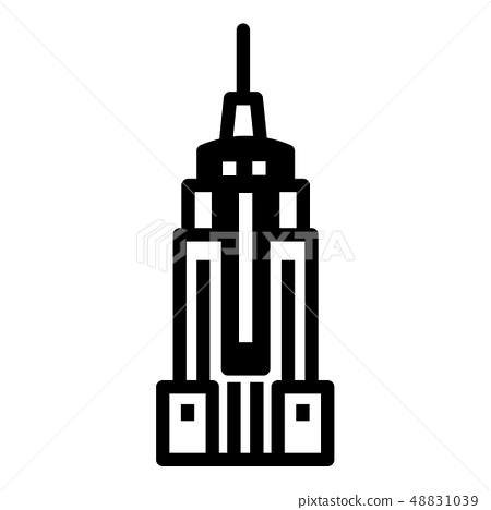 Empire state building Solid illustration 48831039