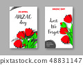 Anzac Day memorail day posters. 48831147