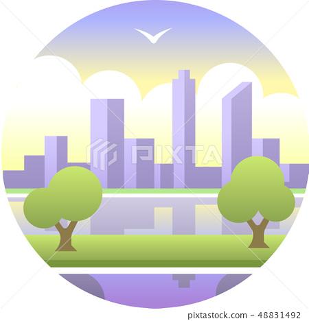 Perth gradient illustration 48831492