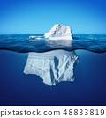 Underwater view of iceberg with beautiful 48833819