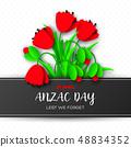 Anzac Day memorail day card. 48834352