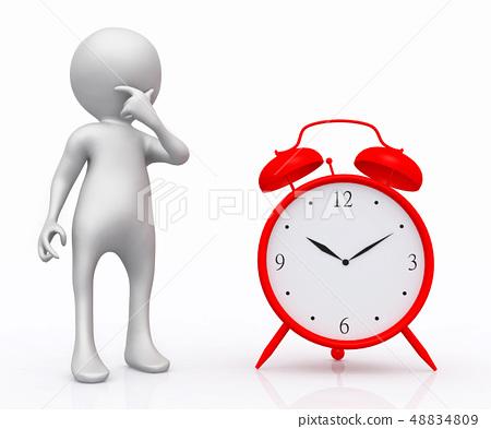 3D figure and alarm clock 48834809