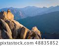 View from Ulsanbawi rock peak on sunset. Seoraksan National Park, South Corea 48835852