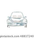 淺藍色的車 48837240