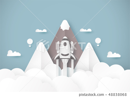 Vector illustration with start up concept in paper 48838068