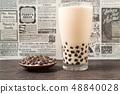 차, 티, 우유 48840028