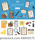 Tax and Business Accounting Infographics 48840575