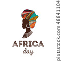 Happy Africa Day. Vector poster, banner, card 48841104