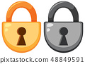 Set of padlock icon 48849591