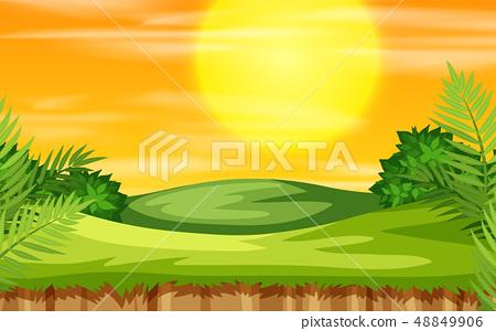 Sunset in park scene 48849906