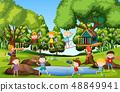 Children playing at playground 48849941