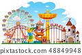 Theme park background scene 48849948