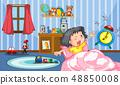 Girl in the bedroom 48850008
