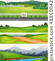 Set of different outdoor scenes 48850042