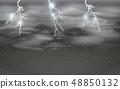 Dark stomy night sky 48850132