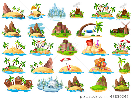 Set of different island 48850242