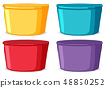 Set of colorful buckets 48850252