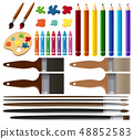 Set of painting tools 48852583