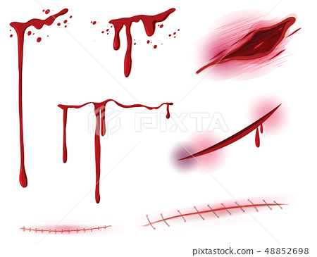 Set of blood and wound 48852698