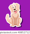 A dog sticker character 48852712