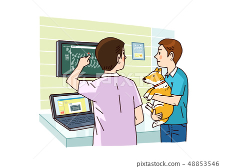 Vector - Examination and healthcare for pets illustration. 010 48853546