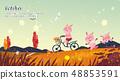 秋天 秋 自行車 48853591