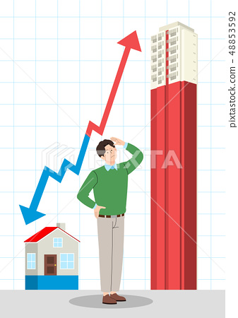 Vector - Wish to buy my house, Home ownership illustration. 010 48853592