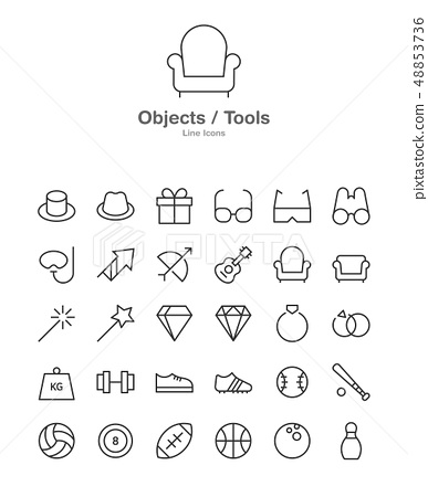Modern web and mobile application pictograms collection. Line art intercece icons set. Modern minimalistic flat design. 043 48853736