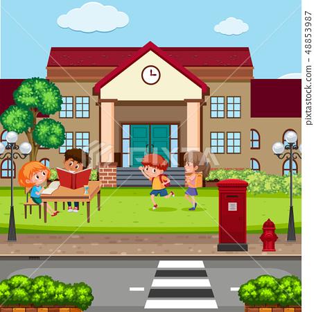 Children at the school 48853987