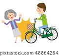 流行自行車事故高級女人 48864294