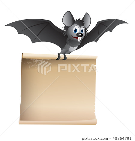 Halloween Day and Bat 48864791