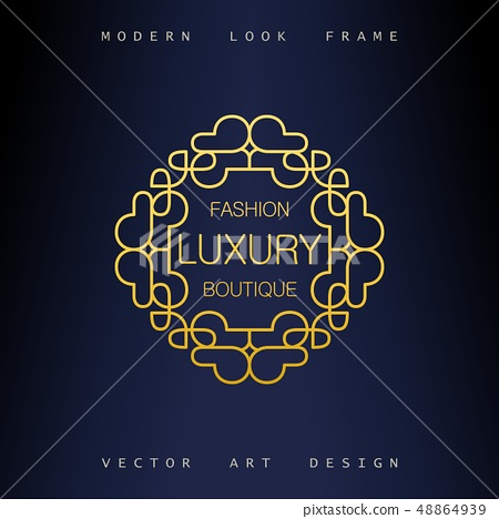 Stylish Art Deco ornate frame 48864939