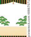 歌舞伎座位廣告插圖A4傳單 48867071