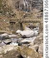 日光烏拉米瀑布Arasawa河的流動 48867366