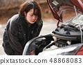 차가 고장 여성 48868083