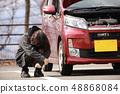 汽车坏了的女人 48868084