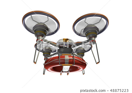 Rescue drone (with floats and transparent material) 48875223