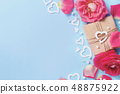 Spring composition with roses, petals, hearts and 48875922