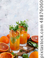 Homemade refreshing drink with bloody orange juice 48876060