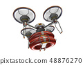 Rescue drone (with floats and transparent material) 48876270