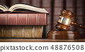 Justice, law and legal concept. Judge gavel  48876508