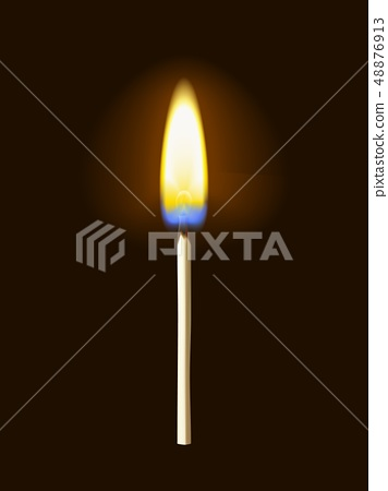 Realistic burning match 48876913