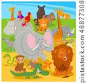 cartoon cute animal characters group 48877308