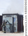 Fireman fire training station drill 48880960