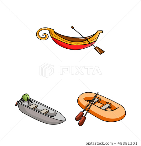 Vector design of sail and sea sign. Set of sail and regatta stock vector illustration. 48881301